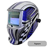 Solar Li Battery Automatic Darkening Tig Mig Mma Mag Kr Kc Electric Welding Mask/Helmets/Welder Cap For Welding Machine Square