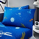 Gaveno Cavailia Astronaut Kids Children Design Luxurious Duvet Cover Sets Reversible Bedding Sets with Pillowcases/Fitted Bed Sheets GC (Single Matching Fitted Sheet)
