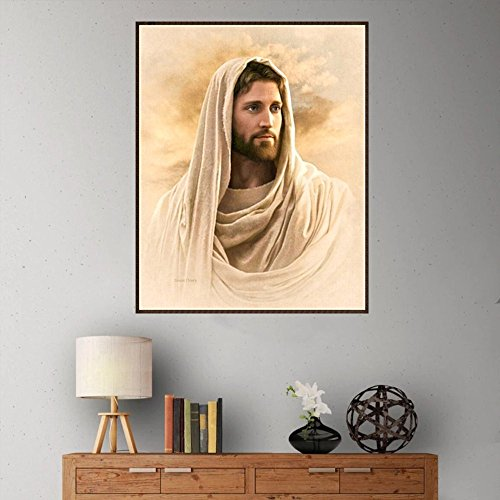 Byonds DIY 5D Diamond Painting, God Jesus Crystal Rhinestone Embroidery Pictures Arts Craft for Wall Decor Religious Home Décor Christian Quote Wall Sticker Handwriting Art Letters Bible Bedroom (C)