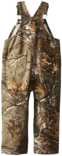 Carhartt Little Boys' Toddler Washed Work Camo Bib Overall,  Realtree Xtra,  4T