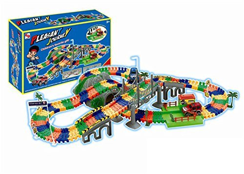 - PowerTRC Pleasant Journey Cave Bridge Toll Station Deluxe 234 Piece Flexible Toy Track Playset w/ 2 Battery Operated Toy Cars , Accessories, Endless Fun and Combinations