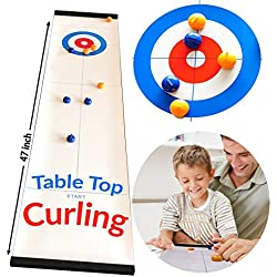 Toys for 3-12 Year Old Boys,JRD&BS WINL Tabletop Curling Game for Kids Toys for 3-12 Year Old Girls in this Novel Fun Family Game,It's Way More Fun Than it Looks, Best Gifts for Family Toys(Curling)