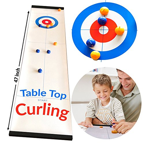 Toys for 3-12 Year Old Boys,JRD&BS WINL Tabletop Curling Game for Kids...