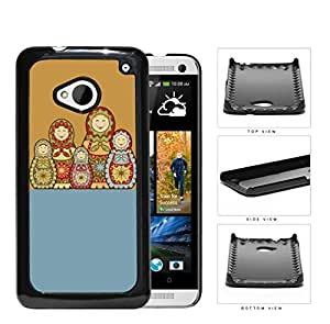 Russian Nesting Dolls Blue And Orange Hard Plastic Snap On Cell Phone Case HTC One M7