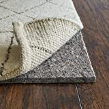 RUGPADUSA, Anchor Grip, 8'x10', 3/8' Thick, Felt + Rubber, Cushioned Non-Slip Rug Pad, Available in 3 Thicknesses, Many Custom Sizes, Safe for All Floors