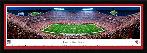 (Kansas City Chiefs - 42x15.5-inch Single Mat, Select Framed Picture by Blakeway Panoramas )