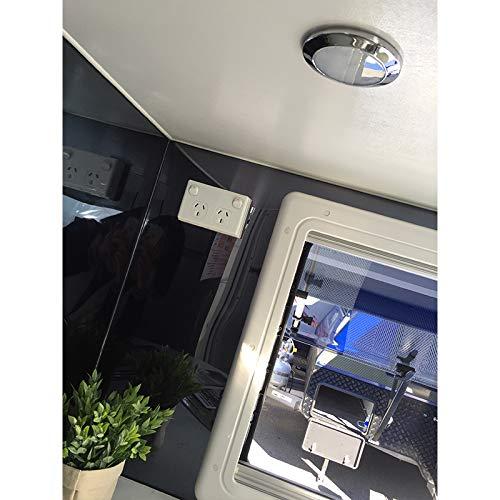 Wohnwagen Reisemobile Boot Badzimmer Wohnzimmer Innenlampe,Warmwei/ß Dimmbare ⌀76mm Dream Lighting 12V LED Deckenlampe Schrankleuchte