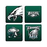 "Philadelphia Eagles Set of 4 Square 3.5"" Neoprane Rubber Coasters"