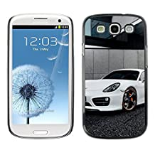 GRECELL CITY GIFT PHONE CASE /// Cellphone Protective Case Hard PC Slim Shell Cover Case for Samsung Galaxy S3 /// White Panamera