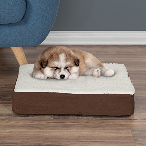 Petmaker Orthopedic Sherpa Top Pet Bed With Memory Foam