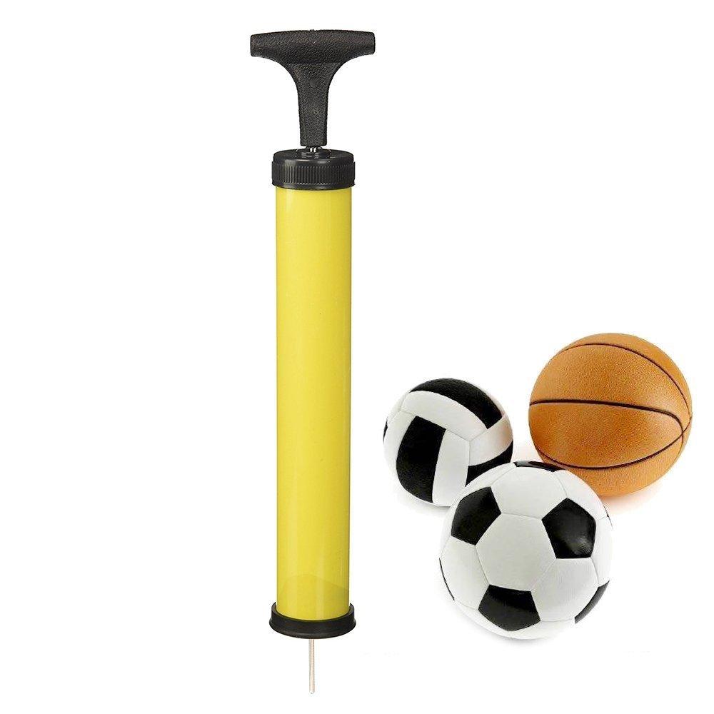 sungpunet Inflado de mano bomba de aire con aguja adaptador para bicicleta de balón de fútbol hinchable, color al azar PHT