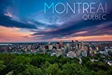 Quebec, Canada - Montreal Skyline at Night (12x18 Art Print, Wall Decor Travel Poster)