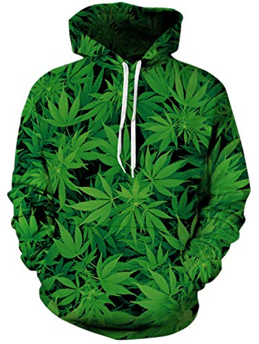Stampa Unisex Con Felpa Cappuccio Pullover xxl Tasche Hoodie S 3d Uomo Weed2 Spreadhoodie Primavera xthdsQrC