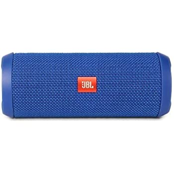 JBL Flip 3 Splashproof Portable Bluetooth Speaker, Blue (Certified Refurbished)