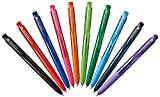 Uni-ball Signo RT1 Retractable Gel Ink Pen, Ultra Micro Point 0.28mm, Rubber Grip, UMN-155-28, 10 Color Value Set