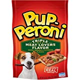 Pup-Peroni Triple Meat Lovers with Bacon, Sausage and Pepperoni Flavor Dog Snacks, 5.6 oz For Sale