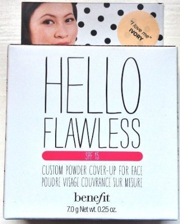 Benefit Cosmetics Hello Flawless Custom Powder Cover-Up For Face - I Love Me Ivory 7.0g / 0.25oz