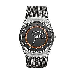 Skagen Men's Melbye Quartz Titanium and Stainless Steel Mesh Casual Watch, Color: Grey (Model: SKW6007)