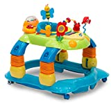 Delta Children Lil' Play Station 3-in-1 Activity Walker, Blue/Green