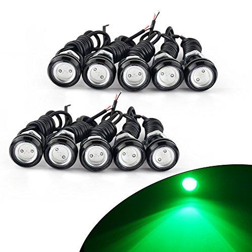 YITAMOTOR 10pcs 23mm Eagle Eye LED Car Motor Fog DRL Daytime Running Light Driving Backup Bulbs 12V Eagle Eye Driving Lights