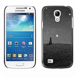 Be Good Phone Accessory // Dura Cáscara cubierta Protectora Caso Carcasa Funda de Protección para Samsung Galaxy S4 Mini i9190 MINI VERSION! // Cat Painting Stars Wonder Grey Gray