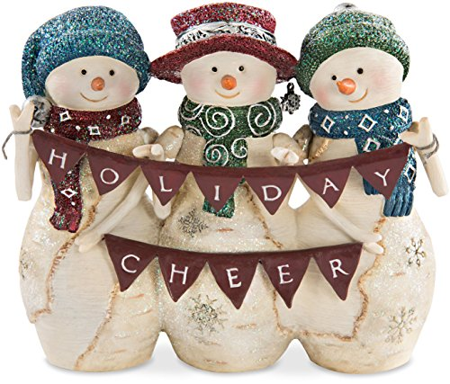 The Birchhearts Holiday Cheer 4 Inch Triple Snowman Figurine