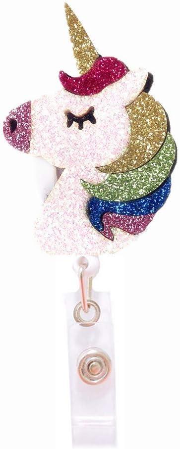 Zipper Pull Unicorn Badge Reel Accent Purse Collar Charm Generic Handmade Set of 2