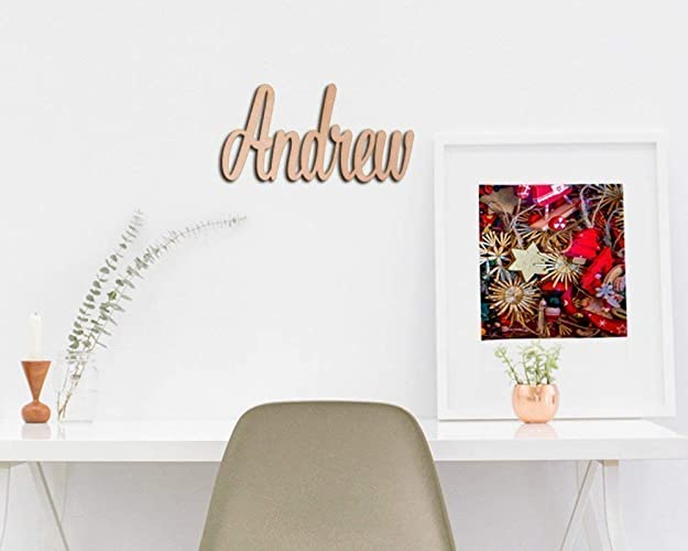 Amazon.com: Wood Name Signs. DIY Wood Letters. Unpainted Wood Sign ...