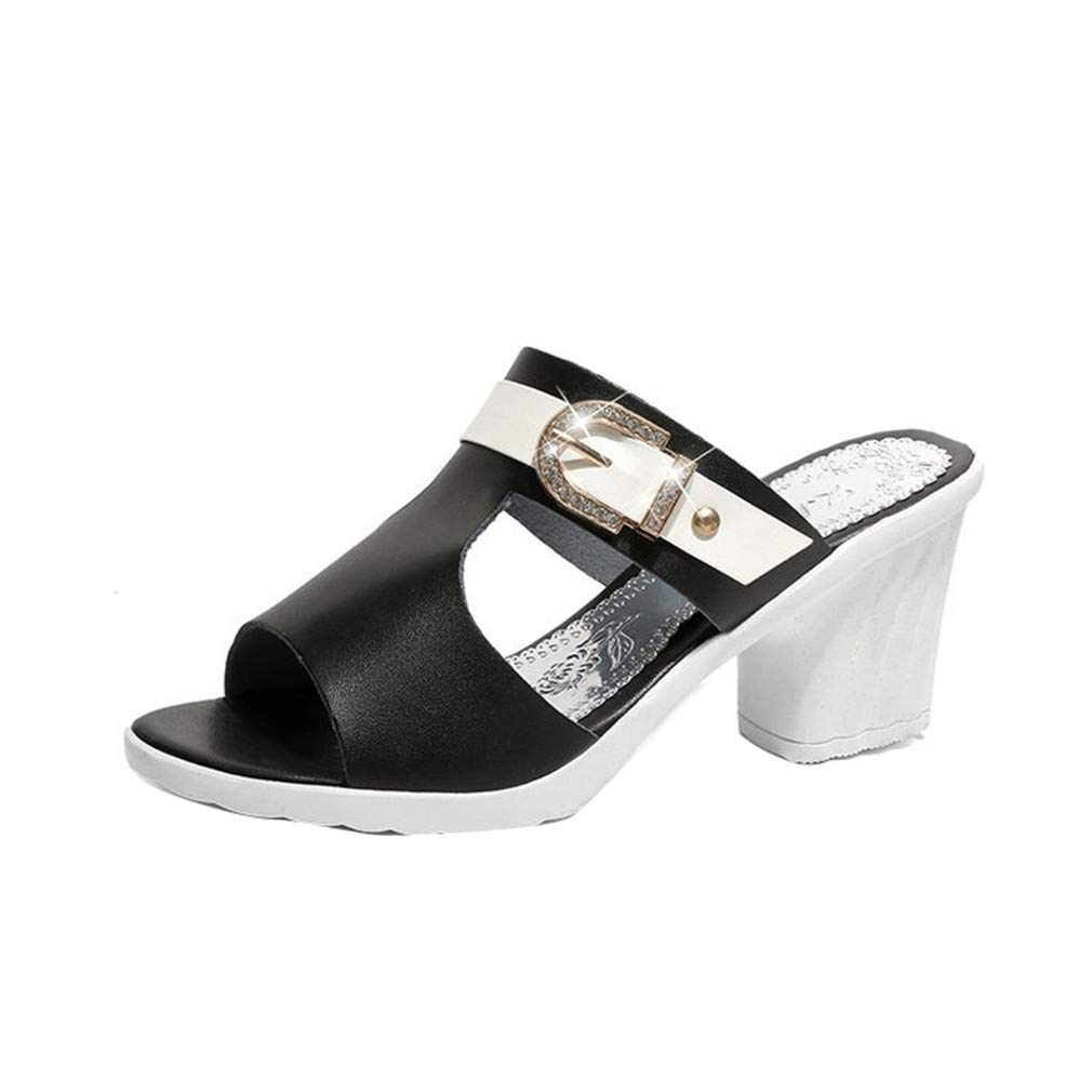 YUCH B0794KYPDT Slippers Femme Lazy Chaussures Femme YUCH Black cedac3e - therethere.space