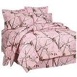 Realtree AP Pink Comforter Set, Full