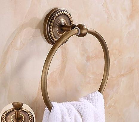 LHbox Tap Todo el Cobre Antiguo Anillo Toallas Toallas baño Aseo Tallado la C: Amazon.es: Hogar