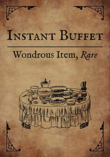 RPG Journal: Blank college ruled notebook for role playing gamers: Wondrous Item: Instant Buffet