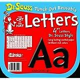 Paper Magic 845033 Eureka Dr. Seuss Punch Out Reusable Decorative 4-Inch Letters, Black, Set of 200