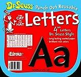 Eureka Dr. Seuss Punch Out Reusable Decorative 4-Inch Letters, Black, Set of 200 (845033)