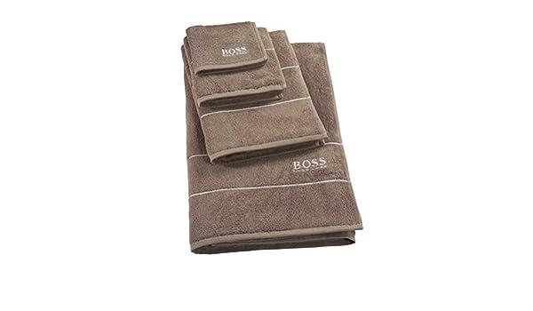 Hugo Boss - Toalla de baño (100 x 150 cm), color marrón: Amazon.es: Hogar