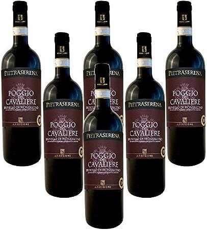 Brunello di Montalcino DOCG Poggio Del Cavaliere Pietraserena Vino Tinto Italiano (6 botellas 75 cl.)