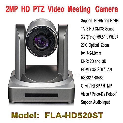 HITSAN 2 0 megapixel 20x zoom ptz video conference camera with hd sdi ip hdmi wifi module for tele education lecture capture meeting