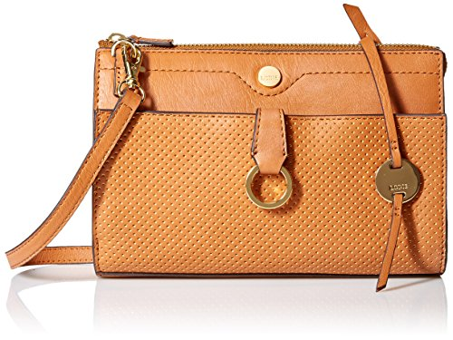 Lodis Sunset Boulevard Vicky Convertible Crossbody Clutch, toffee