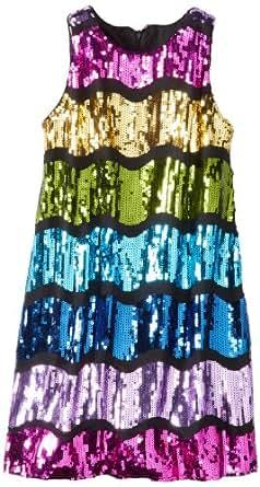 Pippa & Julie Big Girls' Sequin Tank Dress, Multicolor, 10