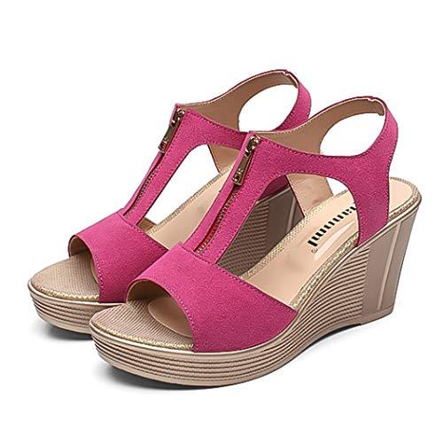 Women Wedge Sandals Platform Summer Women Shoes Peep Toe Ladies Sandals Classic Sandal Heels ()