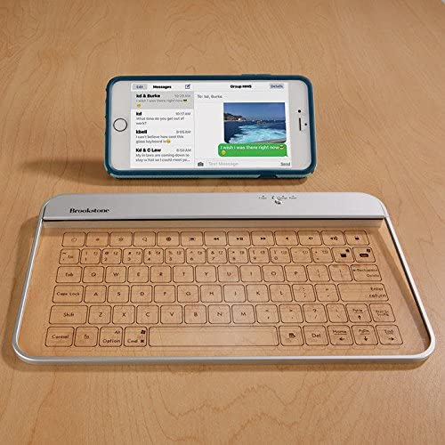 Amazon Com Transparent Wireless Bluetooth Glass Keyboard