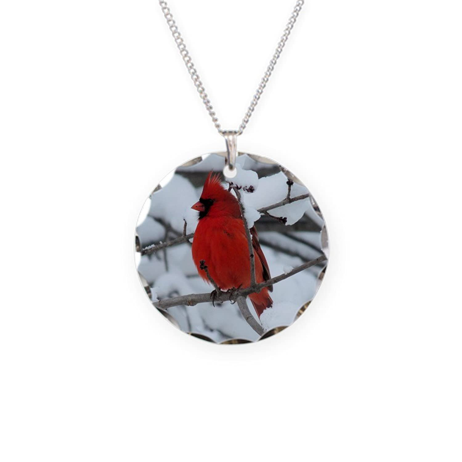 cardinal glass dp necklace com in pendant heaven amazon handmade