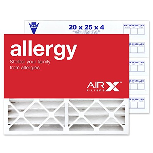 Furnace Filters White Rodgers (AIRx Filters Allergy 20x25x4 Air Filter MERV 11 Replacement for White Rodgers FR2000M-108 FR2000M-111 to Fit Media Air Cleaner Cabinet White Rodgers ACM2000M, 6-Pack)