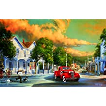 Summer Storm - Car Old Town Puzzle - 550 pc Jigsaw Puzzle by SunsOut