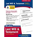 Adams Last Will and Testament Kit,  8.88 x 11.69 Inch, White (K307)