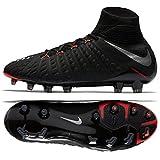 Nike Hypervenom Phantom III DF FG 860643-001 Black/Metallic Silver Men's Soccer Cleats (size 9.5)
