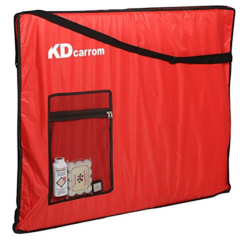 KD Carrom Cover Carry Bag Full Cover for Carrom Board Any Size Against Dust, Straches, Damage Fits all Champion, BullDog, Jumbo Board Game Cover Padded with Separate Pocket for Carrom Board by KD