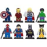 8pcs The Avengers super heroes Figures Model Building Blocks Bricks Learning Educational Toys Gift