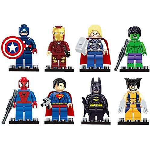 8pcs The Avengers super heroes Figures Model Building Blocks Bricks Learning Educational Toys Gift