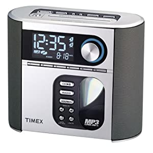 Timex T617S Nature Sounds Auto Set CD Clock Radio with Smart Knob Tuning and MP3 Line In (Silver) (Discontinued by Manufacturer)